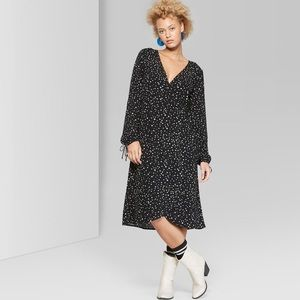 Wild Fable Star Print Long Sleeve Dress